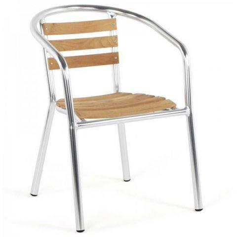chaise de jardin aluminium bois