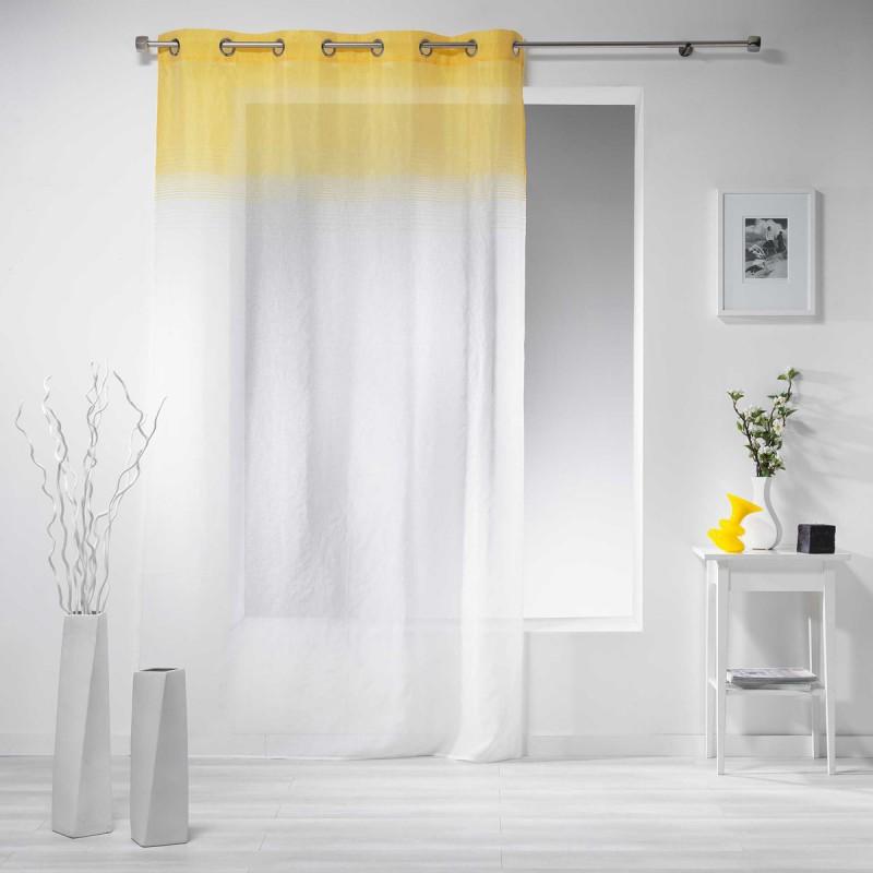rideau voilage embrun 140x240cm jaune