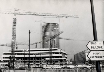 Porte Maillot Archives   Paris Unplugged 1973     La construction du Palais des Congr    s