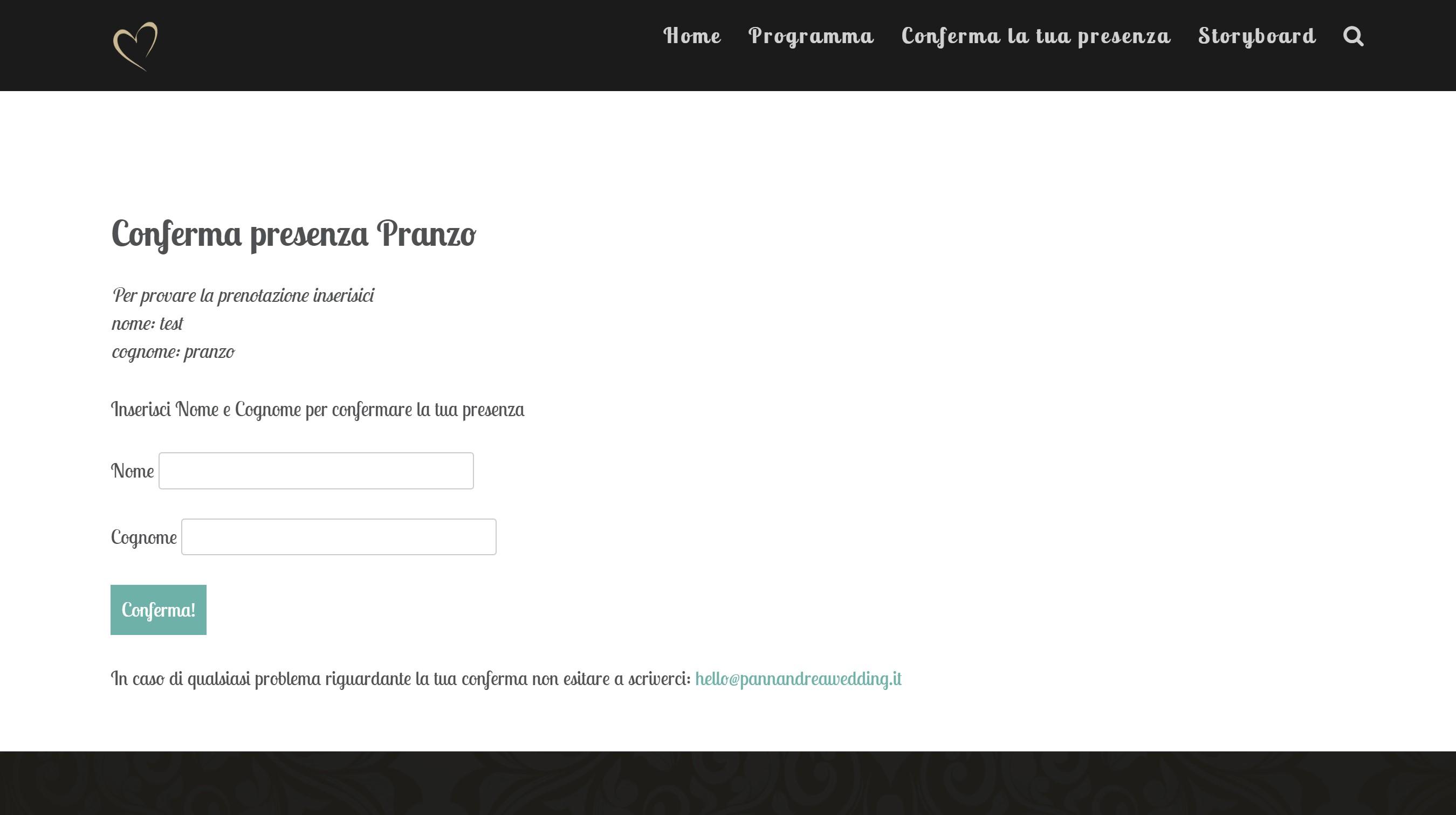 Sito Web Personalizzato per Matrimoni
