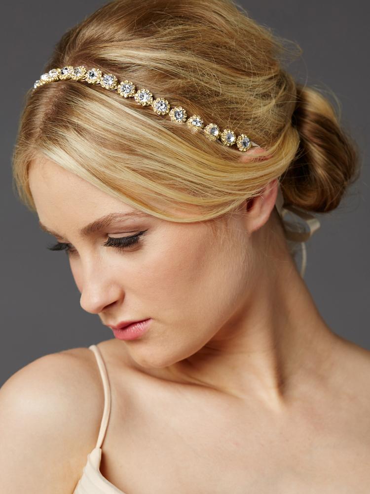 Gold Bridal Headband Paris Connection