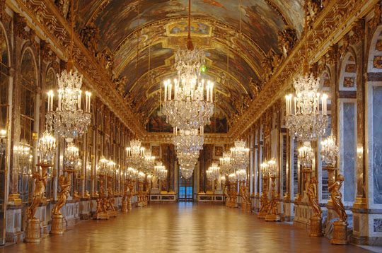 The Hall of Mirrors at Versailles - a beautiful cause of the French Revolution