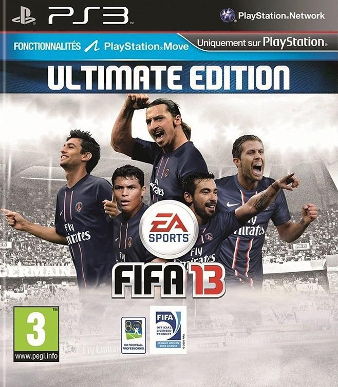 Découvrez la jaquette FIFA 13 version PSG