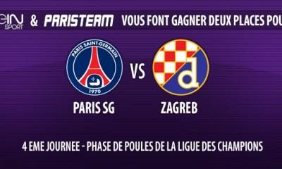 Gagnez deux places pour PSG-Zagreb !