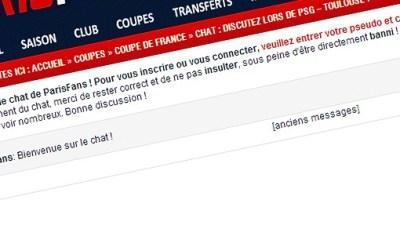 NOUVEAU : le chat débarque sur Parisfans !