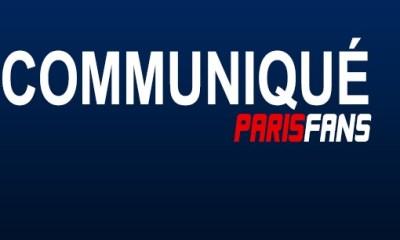 Communiqué de l'équipe ParisFans.fr