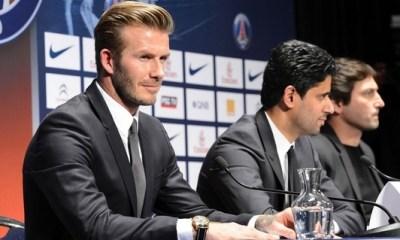 Le PSG confirme vouloir « continuer avec Beckham »