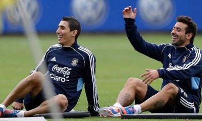 """Di Maria """"Lavezzi? Je suis venu au PSG un peu pour lui...mais je suis ami de tous et je me sens très bien ici"""""""