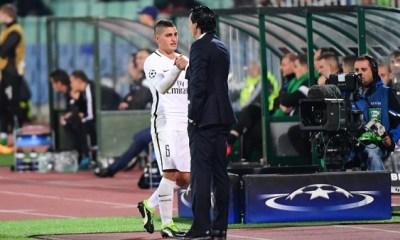 """Emery """"entre le PSG et Verratti c'est un mariage parfait...je suis sûr qu'il va rester longtemps"""""""