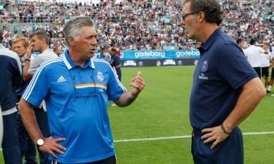 """Ancelotti : Laurent Blanc """"J'ai Beaucoup de respect. Il a très bien travaillé au PSG"""""""