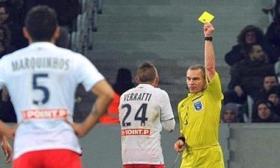 Verratti tout proche du record de cartons jaunes au PSG, détenu jusque-là par Bernard Mendy