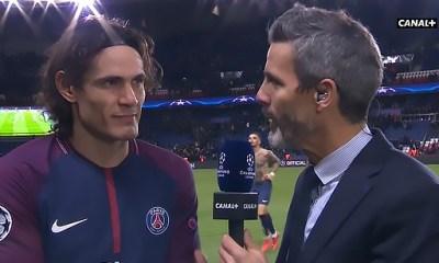 """PSG/Troyes - Cavani """"Le match était très difficile parce que Troyes a fait un match tactiquement parfait"""""""