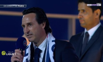 Unai Emery + Al Khelaifi hommage PSG
