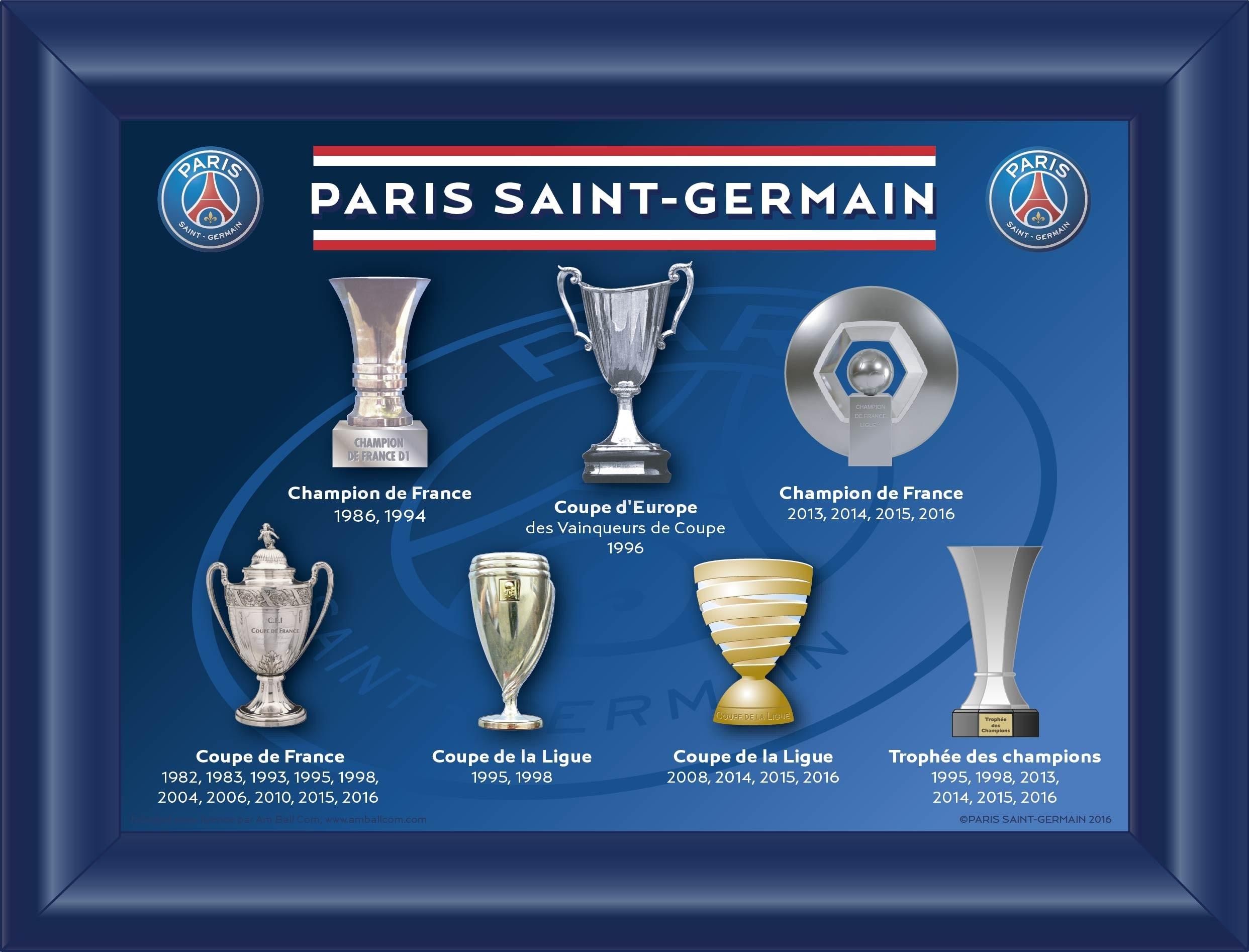 Calendrier L1 Psg.Palmares Psg Resultats Et Classements Du Paris Saint Germain