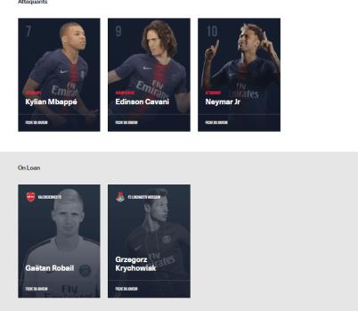 Guedes et Jesé ne sont pas dans l'effectif professionnel du PSG sur son site internet, ni celui de la LFP