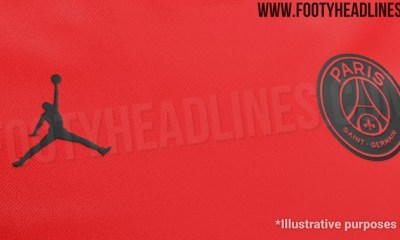 La tenue extérieure du PSG sur la saison 2019-2020 faite par Air Jordan et principalement rouge, selon Footy Headlines