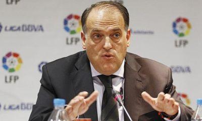 Tebas se plaint encore des dépenses du PSG et de Manchester City en protégeant le Real Madrid et le Barça