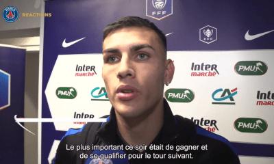 Pau/PSG - Paredes est heureux après la qualification et fier d'avoir été capitaine