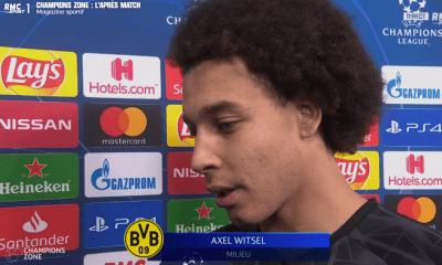 """Dortmund/PSG - Axel Witsel """"on ne leur a pas laissé grand chose"""""""