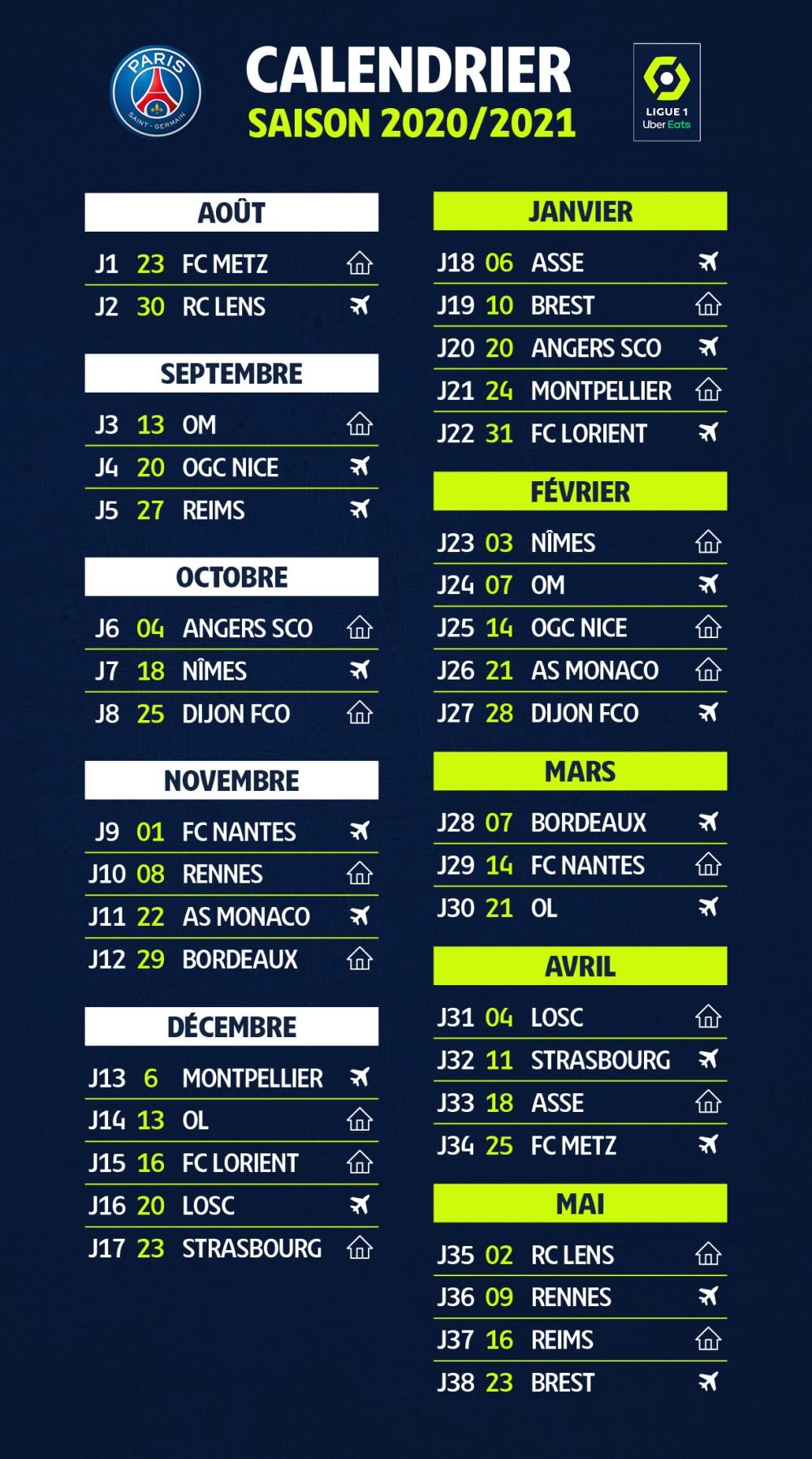Ligue 1   Le calendrier a été dévoilé, retrouvez les dates