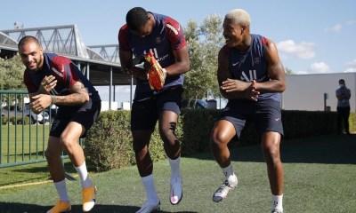 Les images du PSG ce samedi: entraînement et félicitations à l'OL pour leur qualification en demi-finale