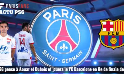 PSG - Intérêts mutuels avec Aouar et Dubois, et le Barça en 8e de LDC - L'essentiel