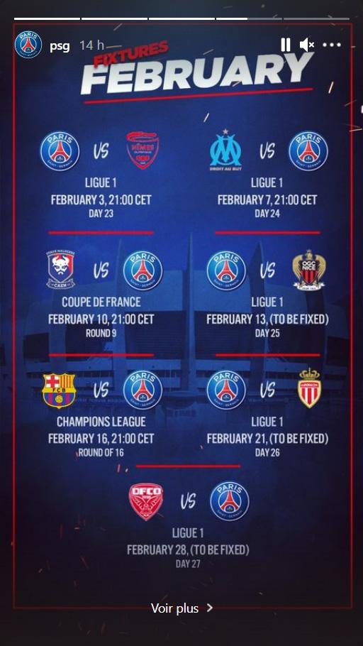 Les images du PSG ce mardi: Calendrier du PSG en février, conférence et entraînement