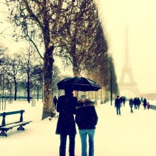 Paris Covered in Snow