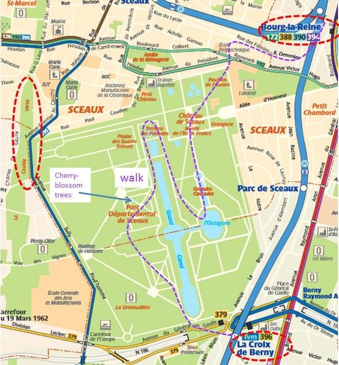 Parc de Sceaux map