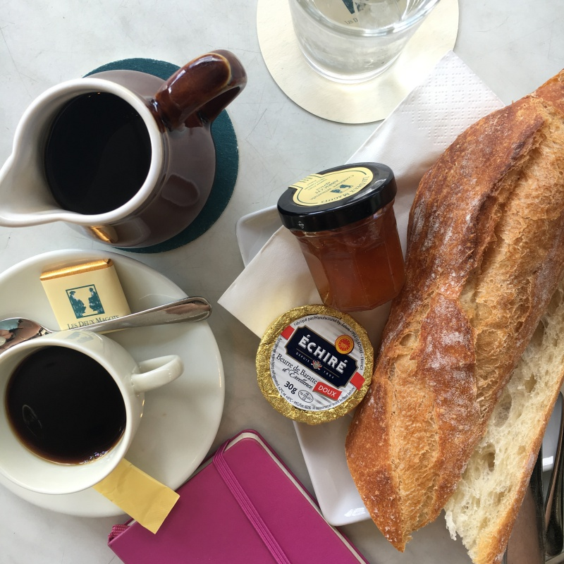 paris breakfast les deux magots cafe