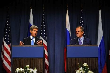 John Kerry, Sergei Lavrov, Syria, chemical weapons, disarmament