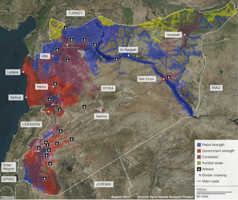 Syria, civil war, Syria Needs Analysis Project, rebels, government