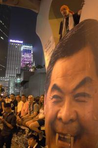 A fanged Xi Jingping. Photo Credit: Elfa Wong