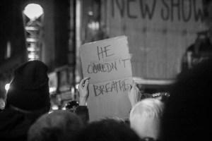 Protest against the Eric Garner Grand Jury verdict in New York. Photo Credit: Dave Bledsoe, Flickr CC.