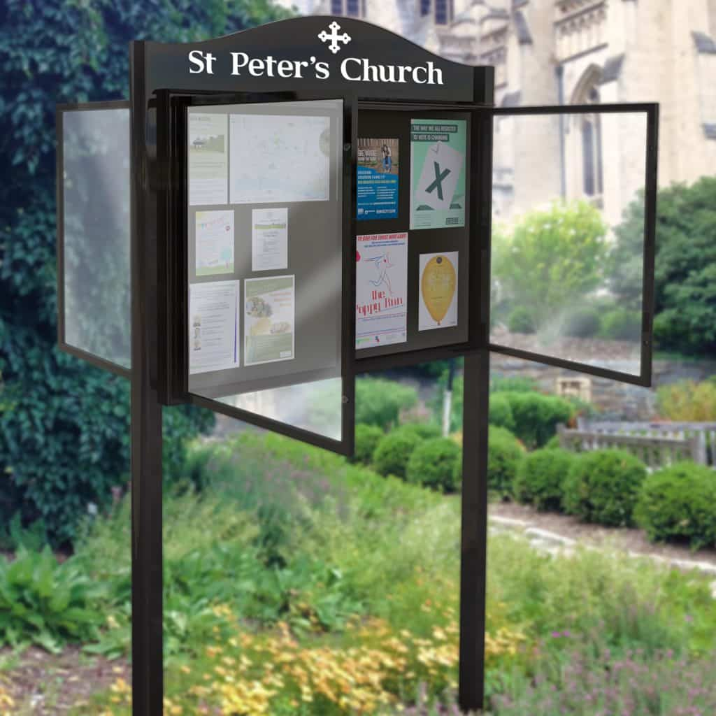 Double Sided Lynester Noticeboard