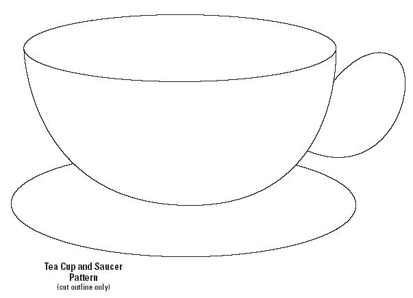 cup template colouring