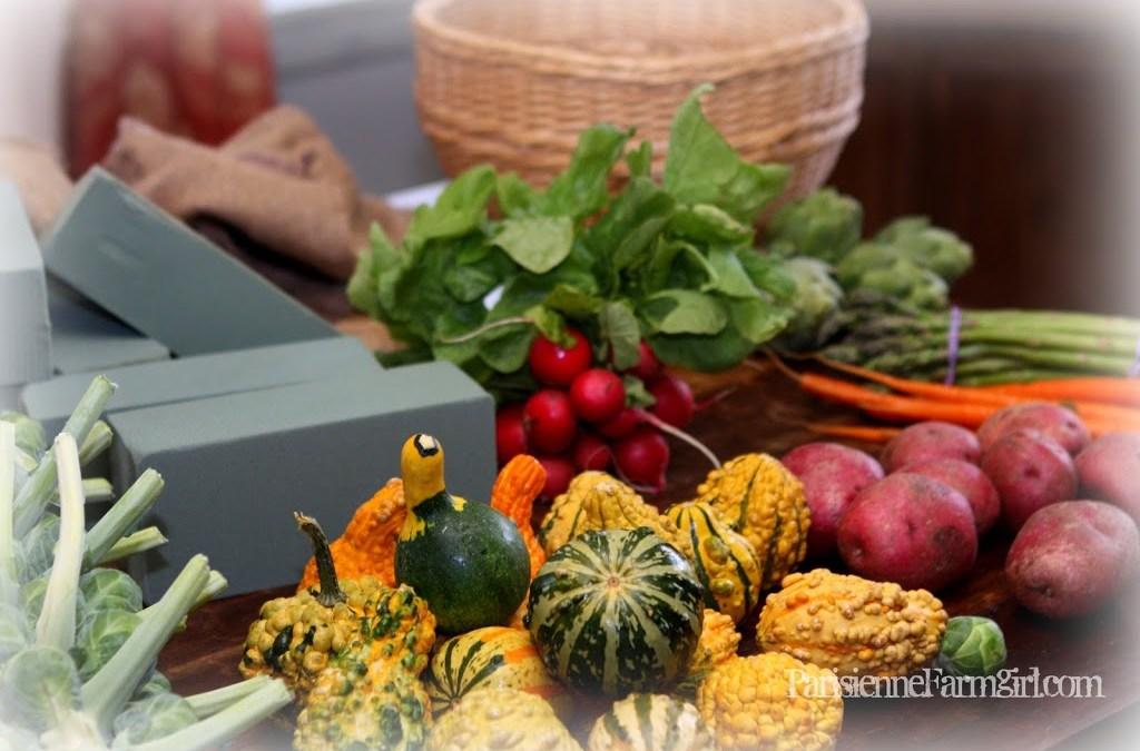 Parisienne Farmgirl Affordable Thanksgiving Centerpiece Tutorial
