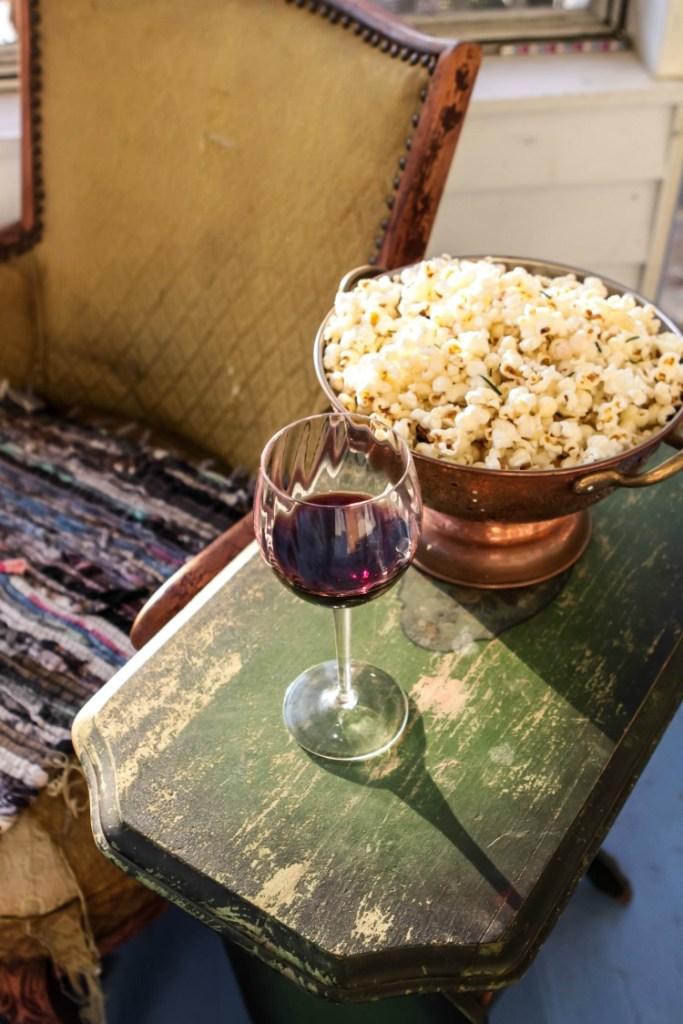 Truffle Popcorn With Garlic and Rosemary