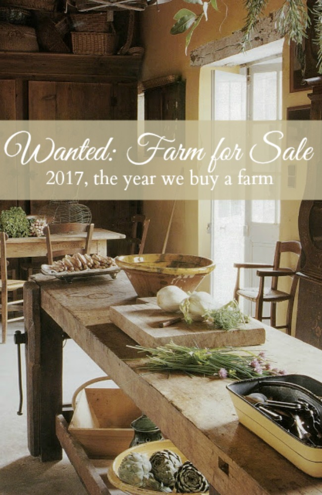 Wanted: Farm for Sale - 2017, the year we buy a farm