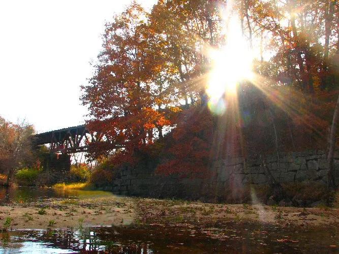 Railroad Bridge from the Little Androscoggin