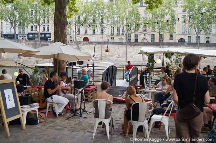Stadtstrand Paris Plages Bar Live Musik