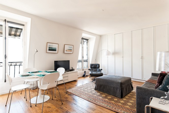 Living Room Of Our Palette Apartment In Paris