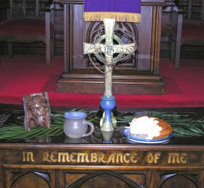 This picture was taken before our Maundy Thursday Tenebrae service during Holy Week.
