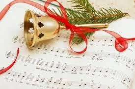 music with Christmas bell