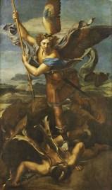 Raphaël, Saint Michel terrassant le démon, dit le Grand Saint Michel. ©RMN (Musée du Louvre) – Thierry Ollivier.