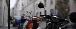 скутеры транспорт парижан