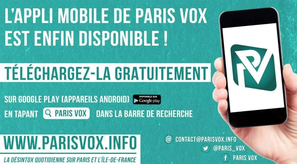 Téléchargez l'application Paris Vox