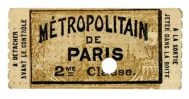 Ticket de carnet 2ème classe- format : 60 x 30 mm – 1903