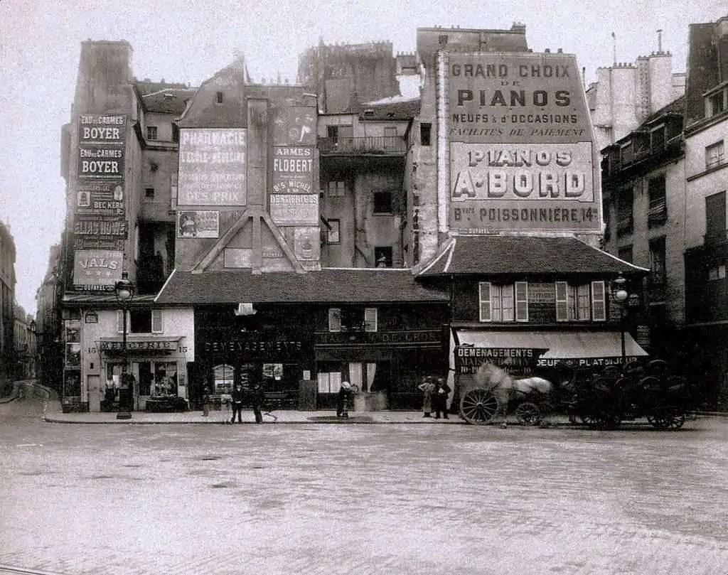La place Saint Andre des Arts en 1898   Eugene Atget