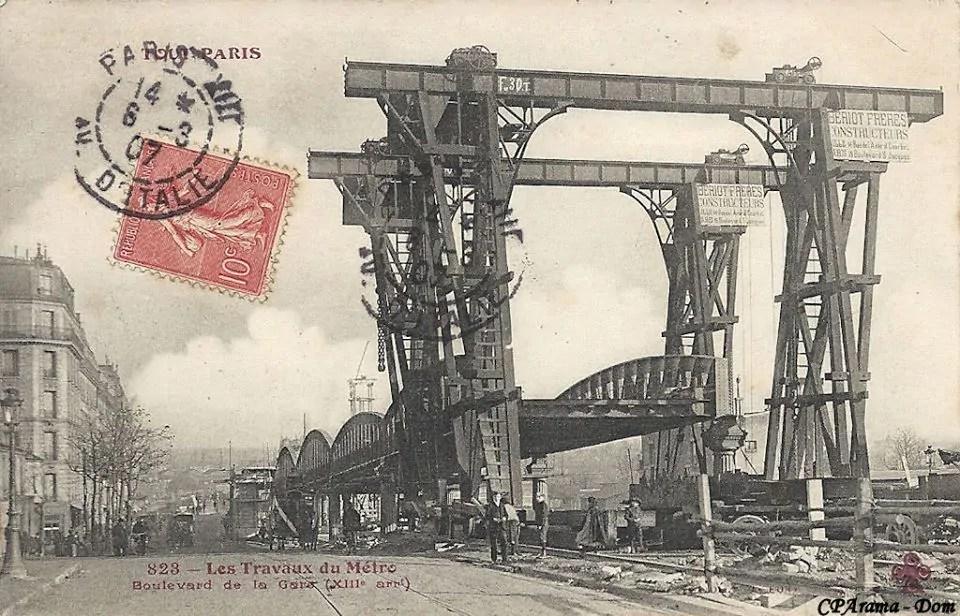Les Travaux du Metro - Boulevard de la Gare - 1903